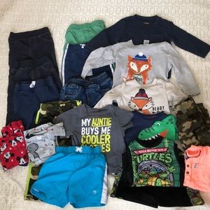 18 month lot of boys clothes-Carters & Misc